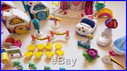 HUGE LOT Vintage Care Bears Care A Lot Castle Figures Accessories Toy Playset