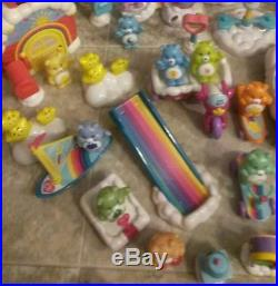 HUGE LOT Vintage Care Bears Care A Lot Castle Figures &Accessories Toy Playset