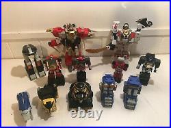 HUGE Vintage Power Rangers Transformers Toy LOT Bandai 1990's Action Figures