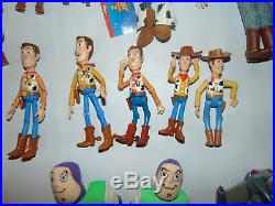 HUGE Vintage TOY STORY Disney TOYS LOT WOODY BUZZ LIGHTYEAR Large/Small Figures