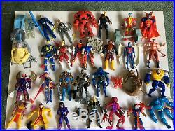 HUGE Vintage X-Men Toy Lot 96 ACTION FIGURES + MANY Accessories Deadpool