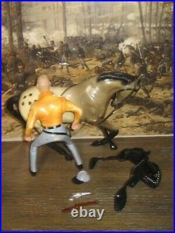 Hartland Rebel Johnny Yuma figure horse saddle hat gun shotgun