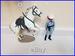 Hubley Toys Vintage Lone Ranger Silver figure in the box, extras