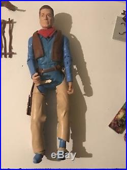 Huge Lot Of Johnny West Marx Figures And Accessories Including QuickDraw JW