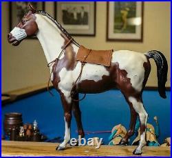 Huge Lot! Vintage Marx Johnny West with figures, 6 horses, accessories. Excellent