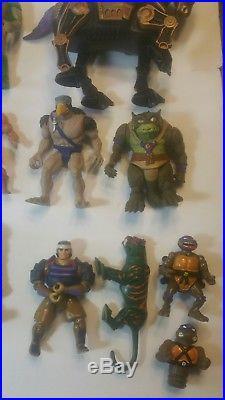 Huge Vintage 80's He man Motu ThunderCats Tmnt Toy Figure Lot 29 total
