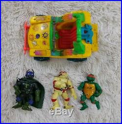 Huge Vtg Tmnt Lot 80s 90s Toys Figures Accessories Weapons Transformer Vehicles