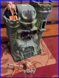 Huge vintage Motu Figure Castle Lot gray skull snake mountain he man toy lot