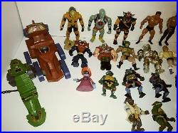 Huge vintage action figure toy lot. Ninja Turtles, He-Man, Thundercats, Etc