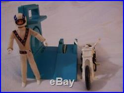 IDEAL No. 3407-4 1975 Evel Knievel Stunt Cycle, Energizer, Figure, Original Box