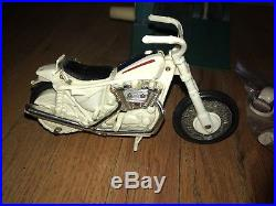 Ideal Evel Knievel Stunt Cycle Figure With Helmet, Swagger Stick Gyro Winder
