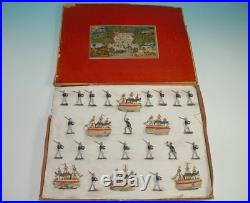 J. G. Rupprecht tin figures marines & 6 metal ships in the box at 1900-1910