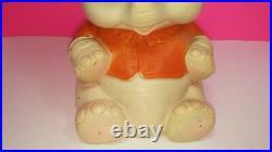 J. L Prescott Edward Mobley Vintage Sleepy Eyes Squeaker Elephant Toy Figure