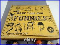 JAYMAR SPECIALTY CO. Make Your Own Funnies Jointed Wooden Figures