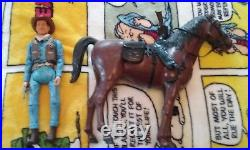 John Wayne Johnny West Marx custom action figure with horse