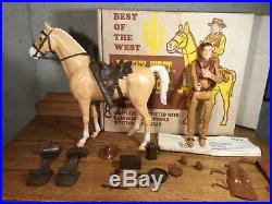 Johnny West And Thunderbolt Boxed Set Marx Toys Rare Vintage Figure