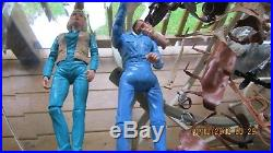 Johnny West Lot Marx Figures 3 Horses, Accessories + Spare Parts