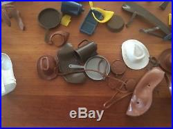 Johnny West Lots of Accessories and 2 figures for parts