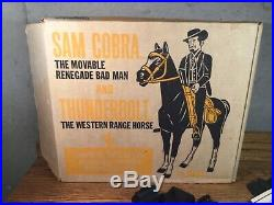 Johnny West MARX Sam Cobra Thunderbolt With Box RARE VINTAGE Toy Figure