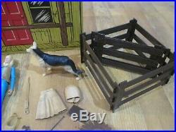 Johnny West Marx Toys Vintage Figure Horse Accessories Ranch LOT
