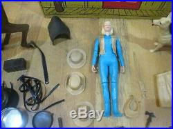 Johnny West Marx Toys Vintage Figure Horse Accessories Ranch LOT