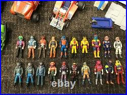 Kenner M. A. S. K. Vintage Toys Lot. 13 vehicles and 20 figures with helmets