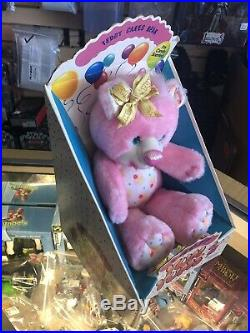 Kenner Vintage Party Yum Yums TEDDY CAKES BEAR Pink Plush Figure BOXED
