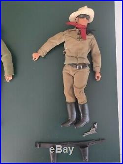 Large Lone Ranger Action Figure and Accessories Lot dated 1973 from Gabriel LTD