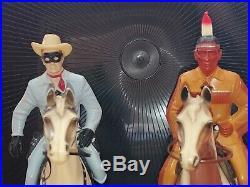 Lone Ranger And Tonto Hartland Figures Vintage Original