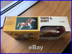 Lone Ranger & Silver -Tonto & Scout Gabriel Action Figure Lot Rare Never Opened