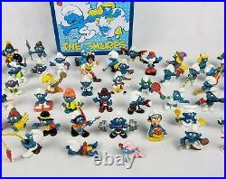 Lot 54 Vintage Schleich Peyo Smurf Toy Figures Papa Smurfette Gargamel lunch box