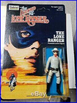 Lot LEGEND LONE RANGER FIGURES 1980 GABRIEL MOC SILVER Tonto