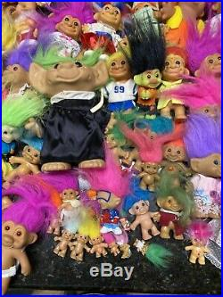 Lot Of 95 Vintage Mixed Toy Figure Trolls 80s 90s & From The Movie