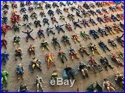 Lot of 165 Vintage 90s Marvel DC Comics Action Figures Spider-Man X-Men Toy Biz