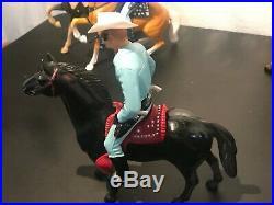Lot of 6 Hartland Western Figures, Horses Roy Rogers, Lone Ranger, Alkali Ike