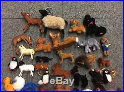 Lot of 90 Assorted Wagner Kunstlerschutz Animal Toy Vintage German Figures