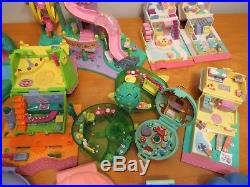 Lot vtg BLUEBIRD Polly POCKET compact playset figure doll house toy 1990's
