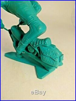 Louis Marx 1964 DAVEY LONE WOLF Nutty Mads Weird Ohs Hawk 5 Teal Green Figure