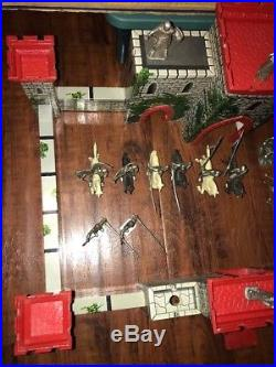Louis Marx Co. Prince Valiant Castle Fort Playset 4706 With Box & Figures