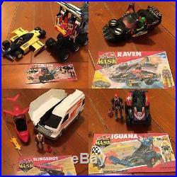 M. A. S. K. Vintage toy lot 33 vehicles 30 figures kenner HUGE