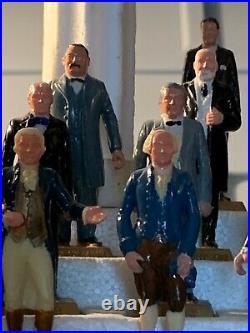 MARX 1960's Set of United States #1-36 Presidents 35 Mini Figures withDisplay