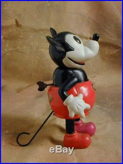 MICKEY MOUSE WALKER RAMBLER VINTAGE 1930s CELLULOID WINDUP MOVING TOY FIGURE