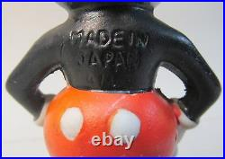 MICKEY MOUSE with hands on hips THIN figure 1930's Japanese bisque Disney