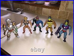MOTU Masters of the Universe He-man vintage LOT action figures with Skeletor