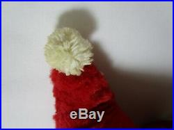 MY TOY JUMBO SANTA CLAUS plush doll stuffed rubber face vintage like rushton