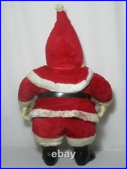 MY TOY LARGE SANTA CLAUS plush doll stuffed rubber face vintage like rushton