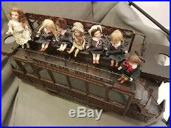 Magnificent French Large Promotional Tramway withFigures, France, 1902 Unique
