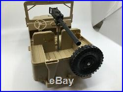 Marx 1967 Rat Patrol Jeep And 2 Figures Super Rare