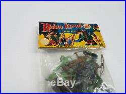Marx Bagged Set Of Robin Hood Figures Unpunched Never Opened 22pcs