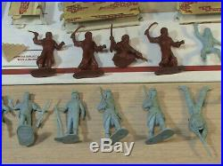 Marx Captain Gallant Foreign Legion Set Figures Trees Instructions Accessories